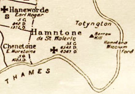 Medieval map of Hampton Priory