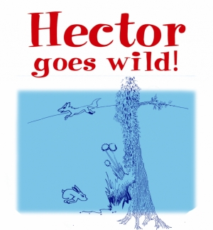 Hector the house rabbit goes wild